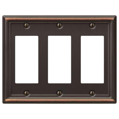 Chelsea 3 Decora Wall Plate - Aged Bronze
