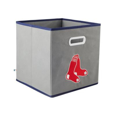MLB STOREITS Boston Red Sox 10-1/2 in. x 10-1/2 in. x 11 in. Grey Fabric Storage Drawer