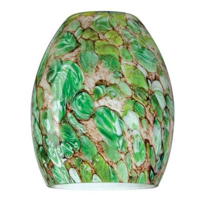 5-7/8 in. Handblown Imperial Jade Neckless Glass Shade with 2-1/2 in. Fitter and 4-7/8 in. Width