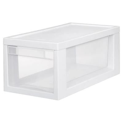 17.125 in. D x 8 in. W x 7 in. H 1-Compartment Plastic Narrow Modular Drawer