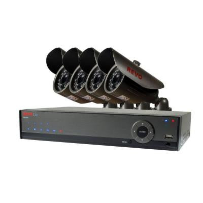 Lite 4-Channel 500GB 960H DVR Surveillance System with (4) 700TVL Bullet Cameras