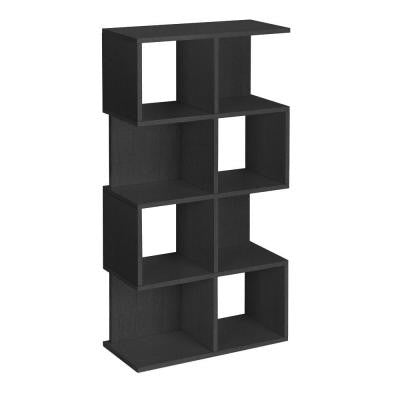 Eco 4-Shelf Malibu Bookcase and Storage Shelf in Black