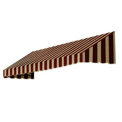5 ft. San Francisco Window/Entry Awning (44 in. H x 48 in. D) in Brown/Tan Stripe