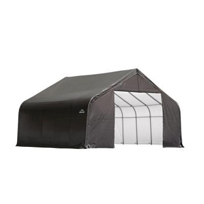 30 ft. x 20 ft. x 20 ft. Grey Cover Peak Style Shelter
