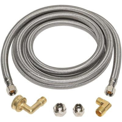 3/8 in. x 3/8 in. x 96 in. Stainless Steel Universal Dishwasher Supply Line