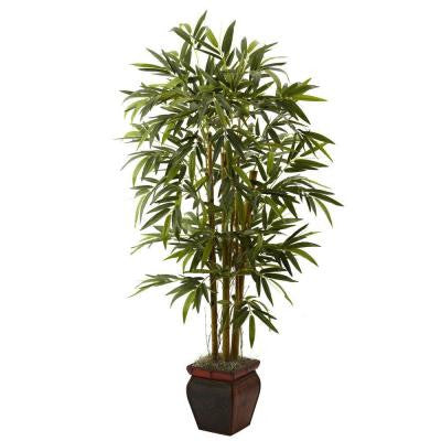 5.5 ft. Bamboo with Decorative Planter