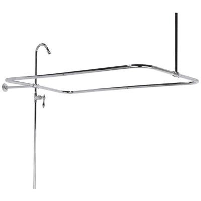 60 in. x 31 in. End Mount Shower Riser with Enclosure in Chrome