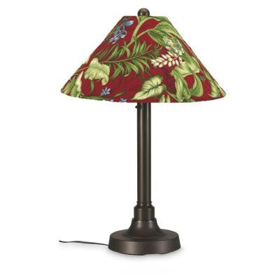 San Juan 34 in. Outdoor Bronze Table Lamp with Lacquer Shade