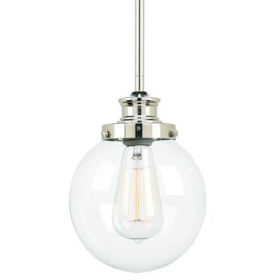 Penn Collection 1-Light Polished Nickel Mini-Pendant