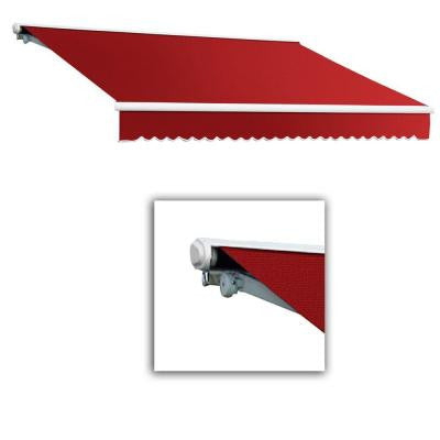 20 ft. Galveston Semi-Cassette Right Motor with Remote Retractable Awning (120 in. Projection) in Red