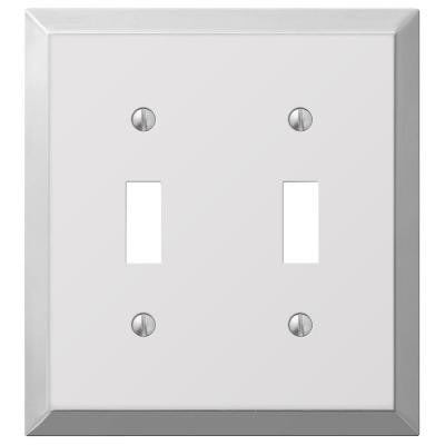 Century Steel 2 Toggle Wall Plate - Chrome
