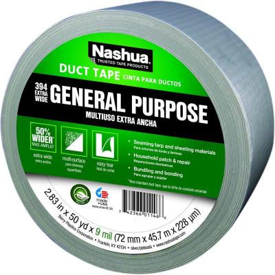 Nashua 2.83 in. x 50 yds. 394 Extra Wide General Purpose Duct Tape - Silver