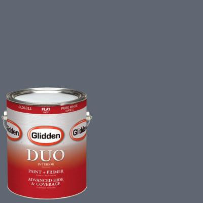 1-gal. #HDGCN47 Blue-Grey Slate Flat Latex Interior Paint with Primer