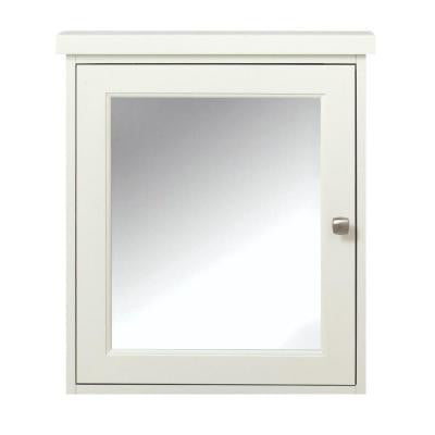 Union 23.75 in. W x 27.25 in. H Surface-Mount Medicine Cabinet in White