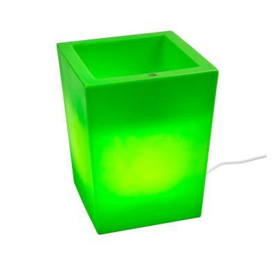 Twist Production 17 in. Apple Green Outdoor Lighted Planter