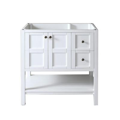 Winterfell 36 in. Vanity Cabinet Only in White
