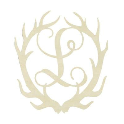 19.5 in. Unfinished Antler Monogram (L)