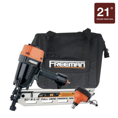 21° Framing Nailer and Palm Nailer Combo with Canvas Bag