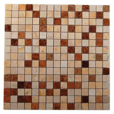 Sparrow Blend 12 in. x 12 in. x 8 mm Glass Mosaic Floor and Wall Tile