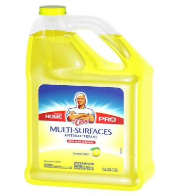 128 oz. Multi-Surfaces Antibacterial Liquid Cleaner Summer Citrus Scent