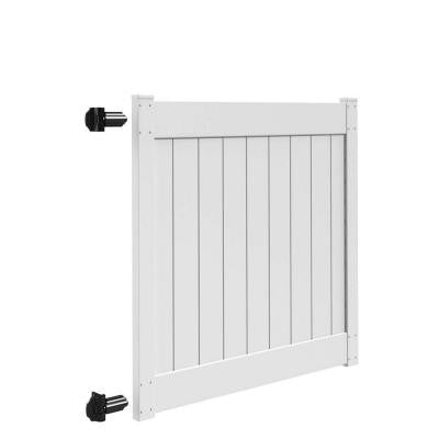 Linden 5 ft. x 5 ft. White Vinyl Un-Assembled Fence Gate