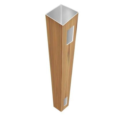 5 in. x 5 in. x 9 ft. Cypress Vinyl Fence End Post