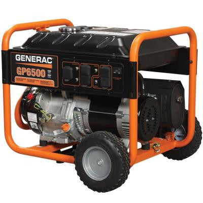 6,500-Watt Gasoline Powered Portable Generator