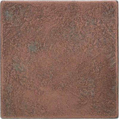 Castle Metals 4-1/4 in. x 4-1/4 in. Aged Copper Metal Wall Tile