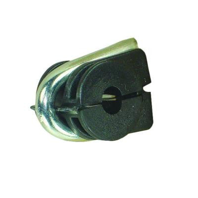Black Staple-On Clamp Insulator Wire for Wood Post (50-Pack)