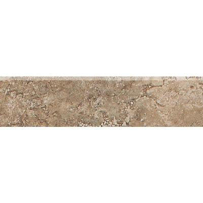Del Monoco Tatiana Noce 3 in. x 13 in. Porcelain Bullnose Floor and Wall Trim Tile
