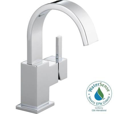 Vero Single Hole Single-Handle Bathroom Faucet in Chrome