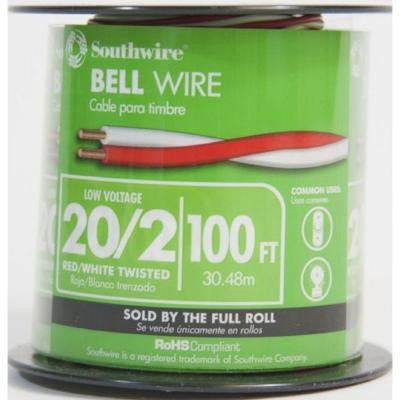 100 ft. 20/2 Twisted Bell Wire