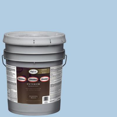 5-gal. #HDGV07U Always Blue Satin Latex Exterior Paint