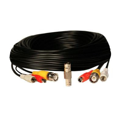 50 ft. RCA Audio / BNC Video / 2.1mm DCPower Extension Cable - Black