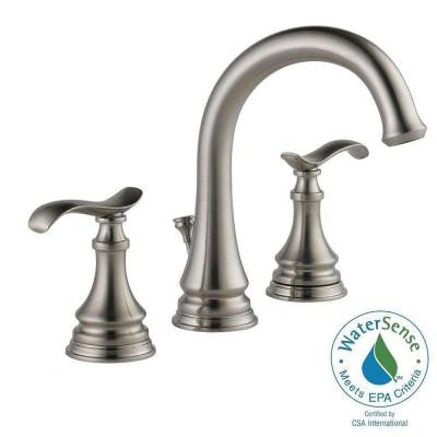 Kinley 8 in. Widespread 2-Handle Bathroom Faucet in SpotShield Brushed Nickel