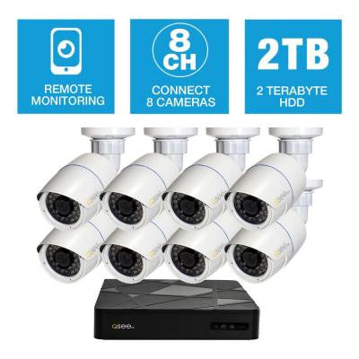 Freedom Series 8-Channel 1080p 2TB Network Video Recorder with (8) 1080p Bullet Cameras and 100 ft. Night Vision