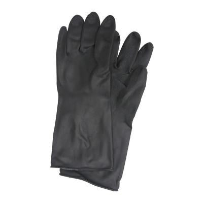 Black Rubber Gloves - Large