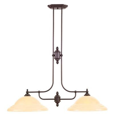 Providence 2-Light Olde Bronze Incandescent Island Ceiling Pendant