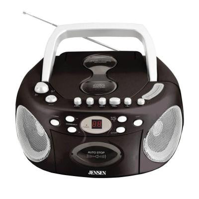 Portable Stereo CD Cassette Boom Box with AM/FM Radio