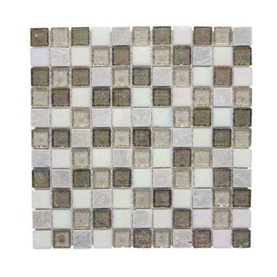 Fall Opal Cut-Edge 12 in. x 12 in. x 6 mm Glass Quartzite Mosaic Wall Tile