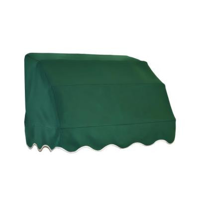 4 ft. Vermont Waterfall Awning (31 in. H x 24 in. D) in Forest