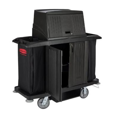 Full-Size Housekeeping Cart with Doors