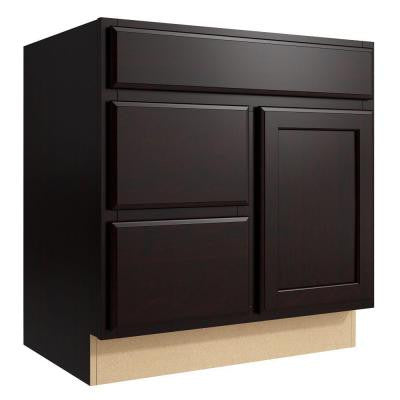 Stig 30 in. W x 31 in. H Vanity Cabinet Only in Coffee