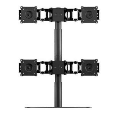 Quad Monitor Flex Stand Accommodates up to 4 x 24 in. Monitors