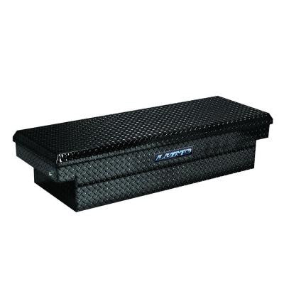 72 in. Cross Bed Full Size Black Aluminum Push Button Tool Box