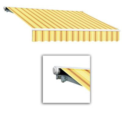 18 ft. Galveston Semi-Cassette Left Motor with Remote Retractable Awning (120 in. Projection) in Yellow/Terra