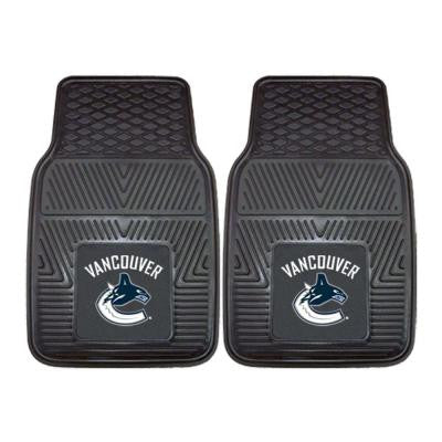 Vancouver Canucks 18 in. x 27 in. 2-Piece Heavy Duty Vinyl Car Mat
