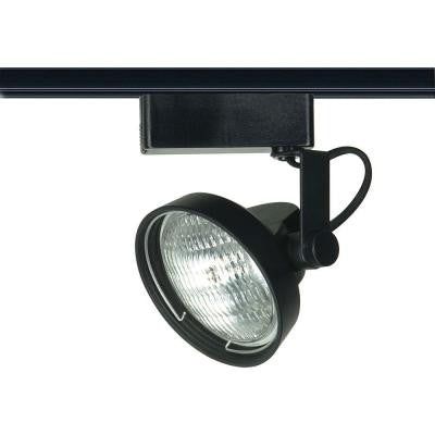 1-Light PAR36 Black Gimbal Ring Track Lighting Head