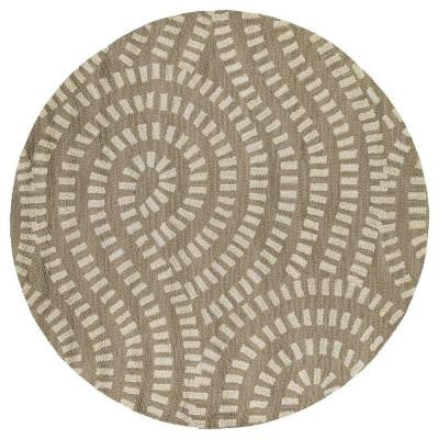 Carriage Traffic Nutmeg 7 ft. 9 in. x 7 ft. 9 in. Round Area Rug