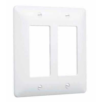 1 Gang Decorator Maxi Metal Wall Plate - White Textured (5-Pack)